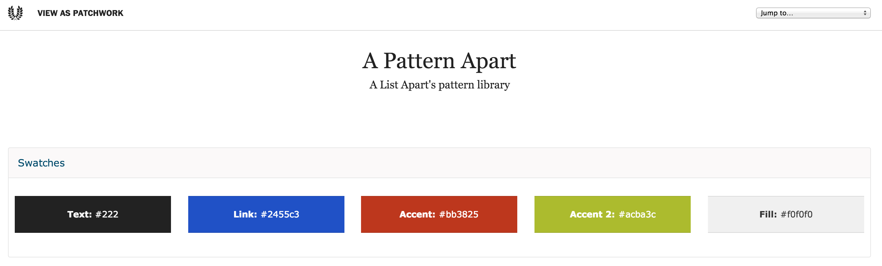A_List_Apart_Pattern_Library